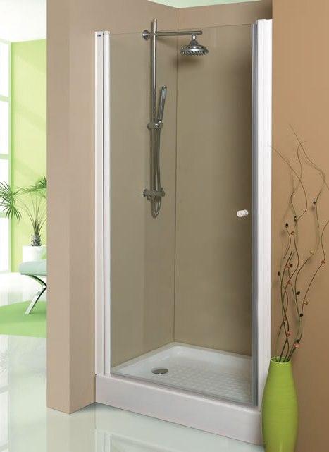 Mampara de ducha frontal 1 hoja abatible serie amazona - Mampara plegable ducha ...